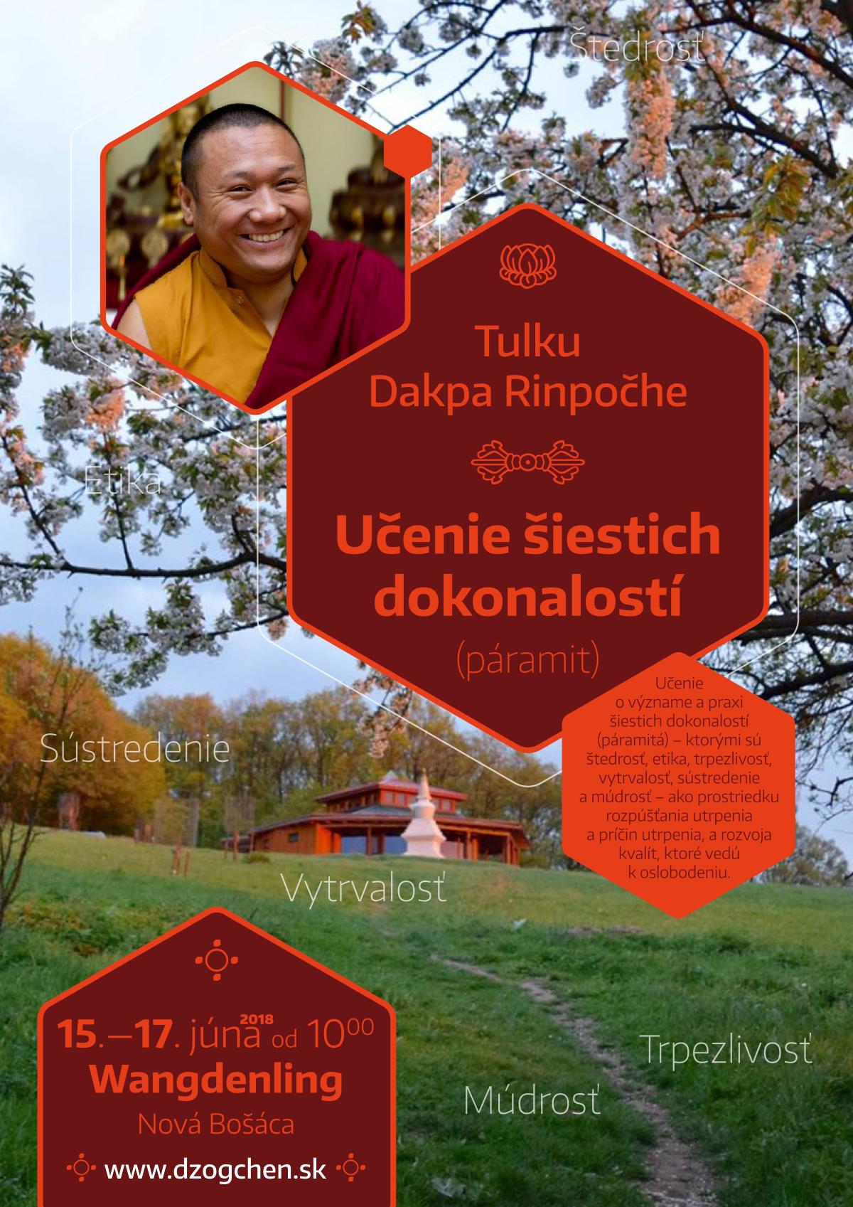 Tulku Dagpa Rinpočhe - Učenie 6 dokonalostí (páramit)